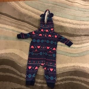 Carter's one piece hooded outfit, 3 months